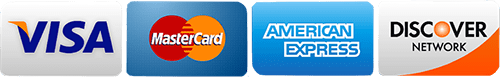 accepted payments - Visa, Mastercard, American Express, Discover Network